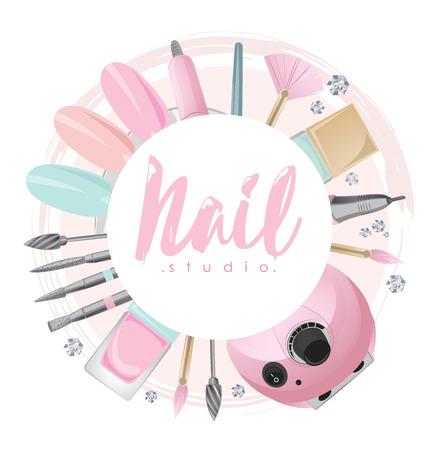 Nail studio logo Illusztráció