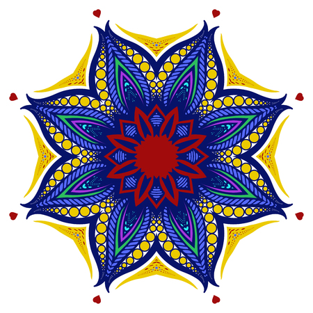 broshure: Mandala, Tribal Ethnic Ornament, Islamic Arabic Indian Pattern. Vector Illustration. Can Used for Design Element, Scrap Booking, Templates, Fabric, Flyer, Broshure