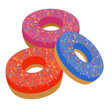 sweet donut in flat style