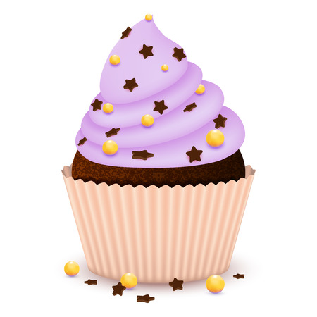 Chocolate cupcake with decorate