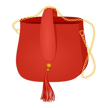Fashion handbag vector. Çizim