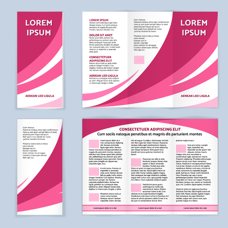 Blank trifold paper leaflet Çizim