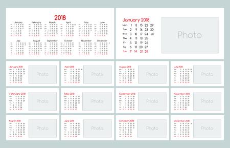 Calendar 2018 Daily Planner Template