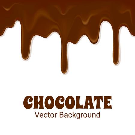 Horizontal seamless chocolate trickles