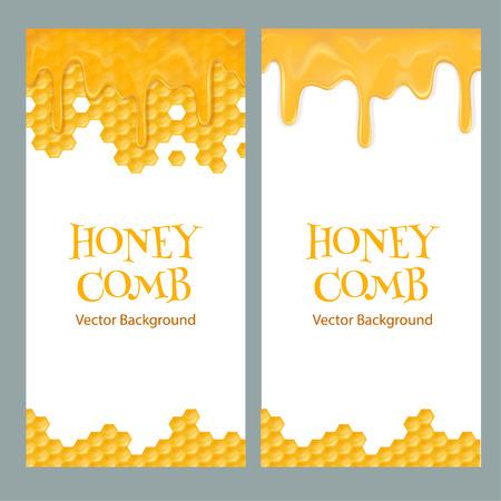 Honey flyers with text Stock Illustratie