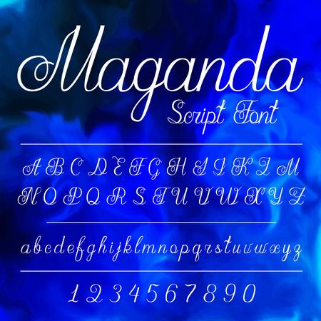 Hand written alfabet