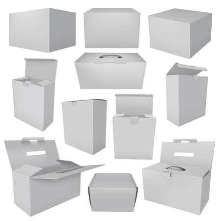 Collection of blank boxes Çizim