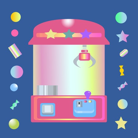 Toy claw machine with sweets