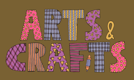 patchwork Arts and crafts lettering