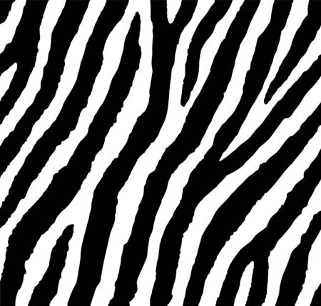 Seamless zebra pattern 80s 90s style.Fashionable exotic black and white animal print
