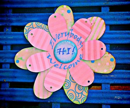 everybody: Everybody Welcome Folk Art Sign