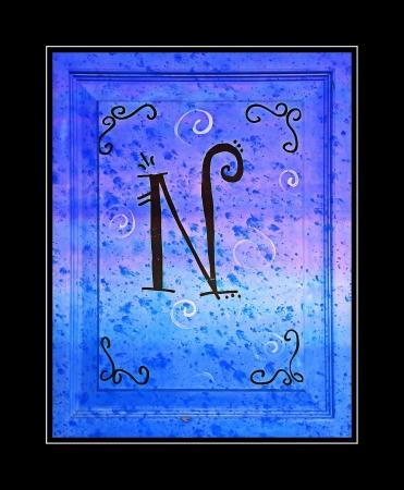 Letter N Monogram on Wood Stock Photo - 14300370