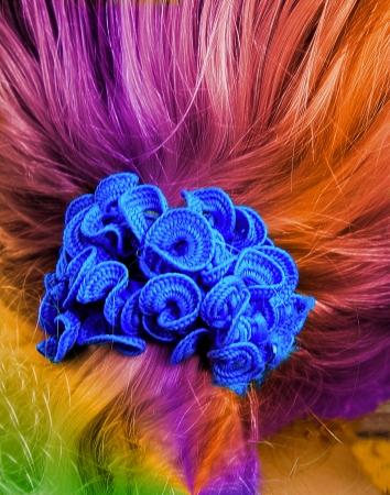 Colorful Hair Zdjęcie Seryjne