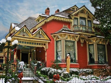 holiday home: Alquiler Casa victoriana decorada con nieve