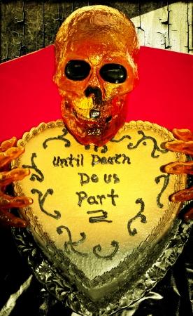 Until Death Do us Part Halloween Cake Banco de Imagens
