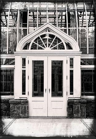 conservatory: Monochrome Glass Conservatory