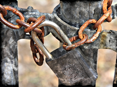Locked Out - Lock and Chain - No Trespassing photo