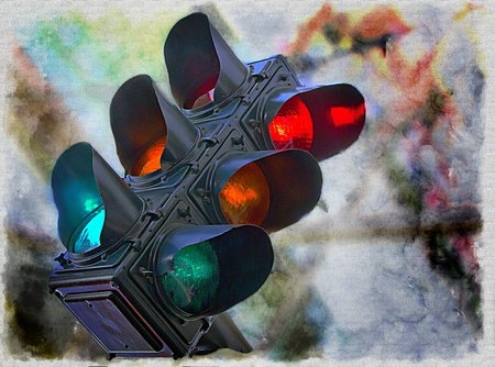 Intersection Stoplight; Traffic Light;  photo