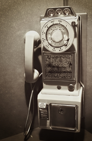 Retro Vintage Rotary Dial Pay Telephone photo