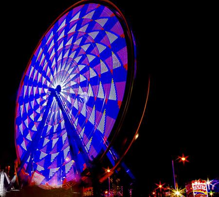 Carnival Ride - Ferris Wheel in Motion