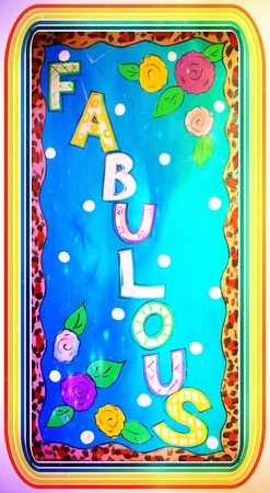 Word Fabulous Sign, Banner or Background