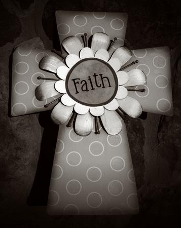 christanity: Monochrome Cross - Faith