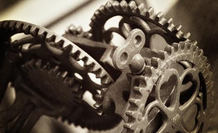 Sepia Gestemde Equipment Gears