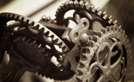 Sepia Toned Equipment Gears