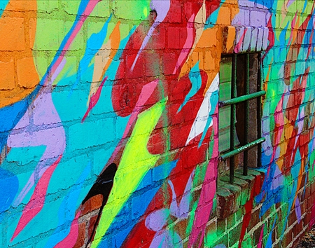 Abstract Graffiti Wall Imagens