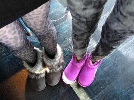 buddies: Young girl buddies matching fashionable outfit