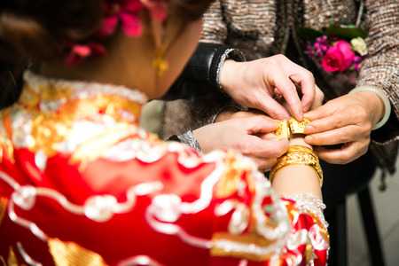 ni�as chinas: China de la boda Foto de archivo