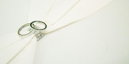 diamond rings: Wedding rings with diamond Stock Photo