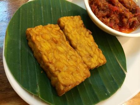 soya bean: Indonesian snack - deep fried soya bean cake Stock Photo