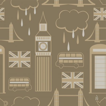 London elements landmark, seamless pattern, vector background, Vector