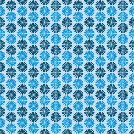 Blue flowers, dark , vector  seamless pattern Vector