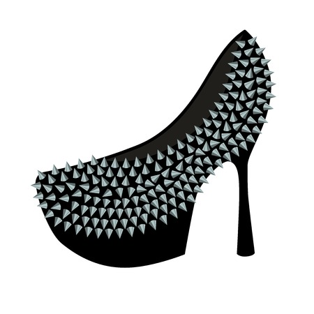 studs: Womens fashion high-heeled shoes decorated with studs