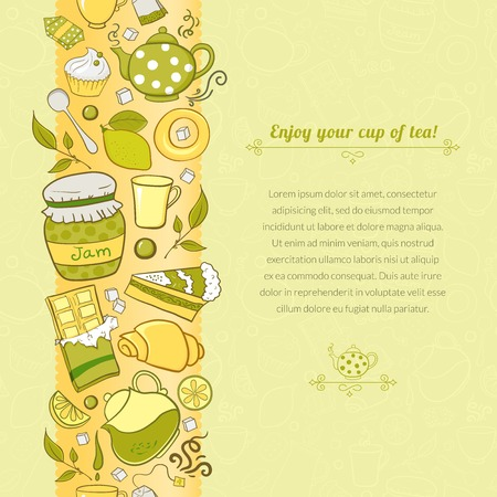 tea background for template card with place for text Vector