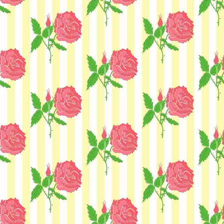 bedclothes: Floral seamless pattern. Background of roses, template for use as packaging, bedclothes
