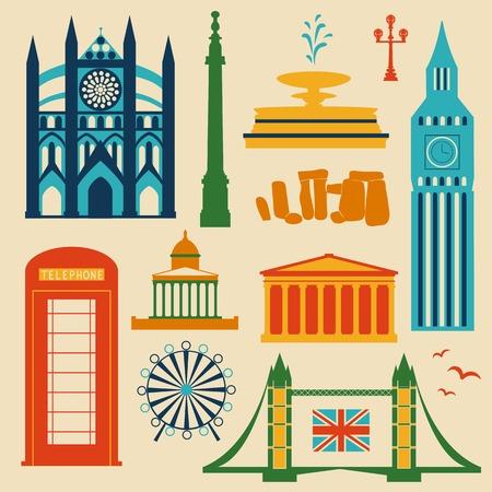 Landmarks of United Kingdom Vector