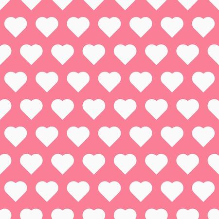 wallpapper: Pattren senza soluzione di continuit� con il cuore, ragazza sfondo vettoriale Vettoriali