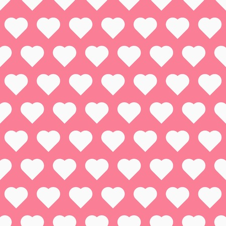 maiden: Seamless pattren with hearts, maiden vector background Illustration