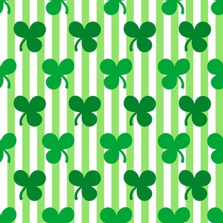 wallpapper: St. Patricks Day seamless pattern with shamrocks
