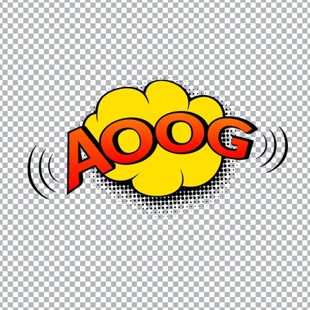 Comic bubbles vector isolated illustration, alarm sound