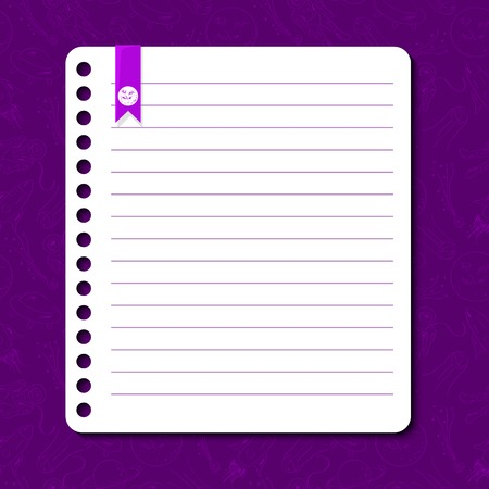 rounded edges: Cosmos vector background with space for text in the form of a sheet torn from a notebook
