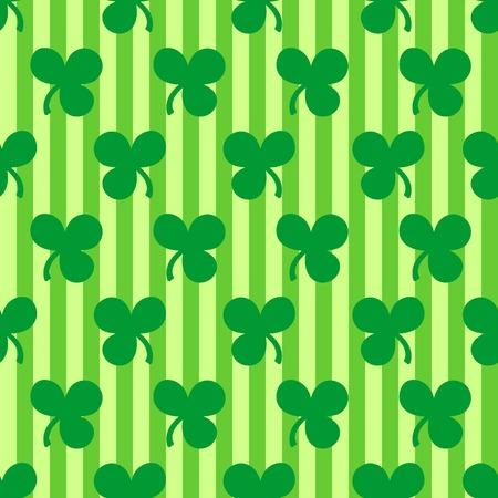 St. Patricks Day seamless pattern with shamrocks Vector