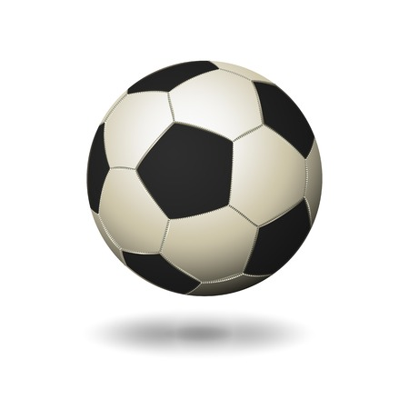 conceptional: Soccer ball icon white and black color, isolated background Illustration