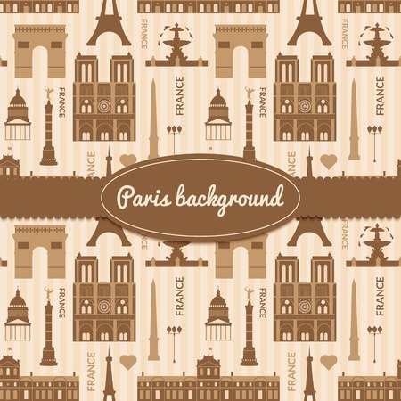 obelisk: Landmarks of France, vector colorful background with space for text and flat geometric objects