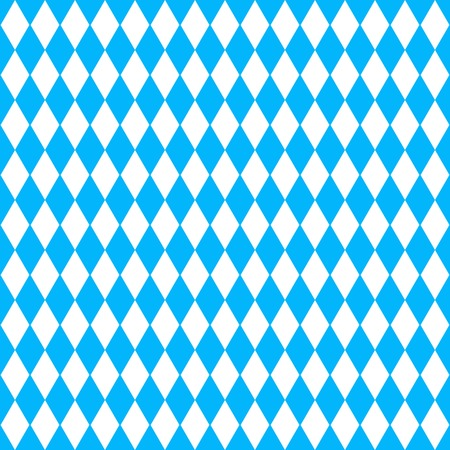Oktoberfest vector background with blue and white rhombus