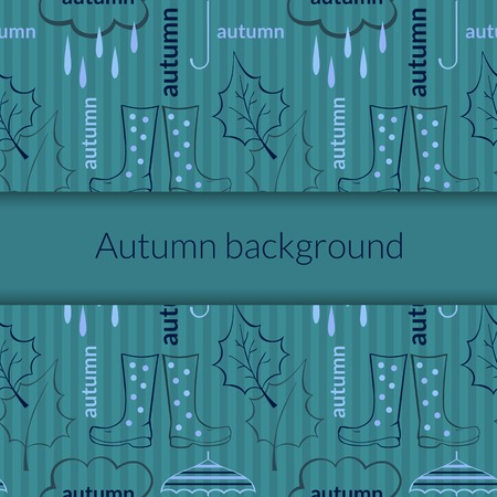 Beautiful autumn vector background with seasonal attributes with space for text Vector