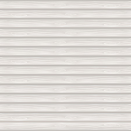 Vector texture of white wood, neatly arranged horizontally plank Illustration